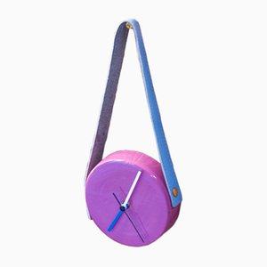 Uhr in Blau & Pink von Marco Rocco, 2018