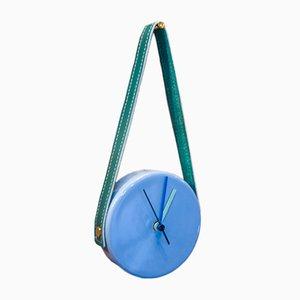Horloge Bleue et Verte par Marco Rocco, 2018