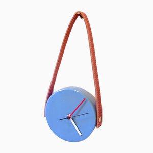 Reloj en cian y marrón de Marco Rocco, 2018