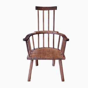 Antique Farmhouse Spindleback Armchair
