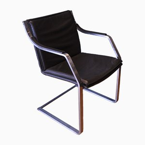 Vintage Leather Art Collection Cantilever Lounge Chair by Rudolf B. Glatzel for Knoll
