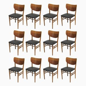 Teak & Oak Dining Chairs by Niels Koppel for Slagelse Møbelfabrik, 1950s, Set of 12