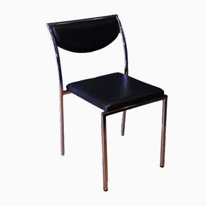Chaise de Bureau Vintage Moderniste Chrome & Cuir de Zoeftig