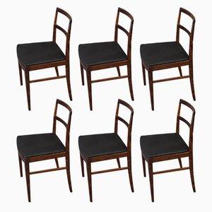 Modell 430 Palisander Esszimmerstühle von Arne Vodder für Sibast, 1960er, 6er Set