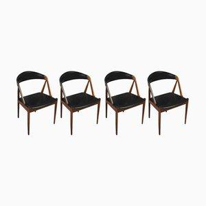 Chaises de Salle à Manger Modèle 31 Mid-Century par Kai Kristiansen pour Schou Møbelfabrik, 1960s, Set de 4