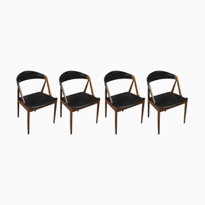 Mid-Century Dining Model 31 Rosewood Chairs by Kai Kristiansen for Schou Møbelfabrik, 1960s, Set of 4