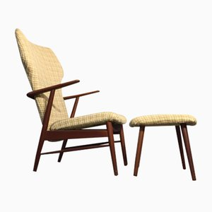 Mid-Century Teak Lounge Chair Prototype by Hans Olsen, 1960s