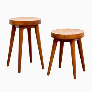 Stools by Pierre Jeanneret & Charlotte Perriand, 1960s, Set of 2