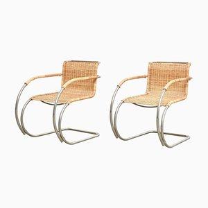 Butacas MR20 Bauhaus de Ludwig Mies van der Rohe para Tecta. Juego de 2