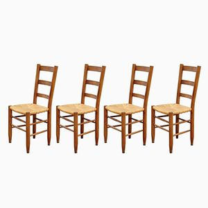 No 19 Meribel Chairs by Charlotte Perriand, Set of 4
