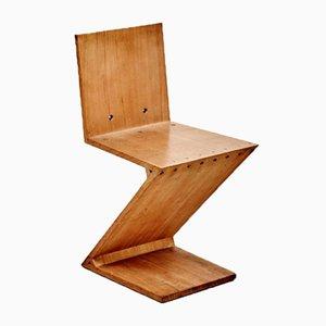 Sedia Zig-Zag vintage di Gerrit Rietveld per Metz & Co