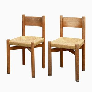 Chaises Meribel par Charlotte Perriand, 1950s, Set de 2