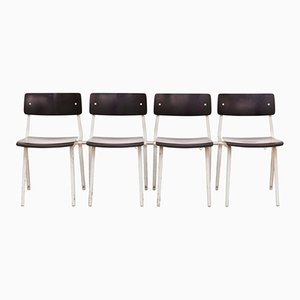 Theater Chairs by Friso Kramer for Ahrend De Cirkel, 1959, Set of 4