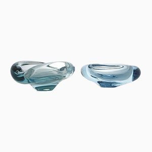 Akva Series Ashtrays by Per Lütken for Holmegaard, 1950s, Set of 2