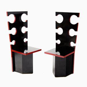 Italienische Stühle von Max Papiri, 1970er, 2er Set