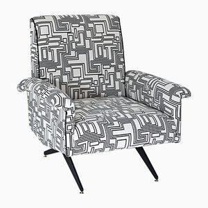 Mid-Century Italian Lounge Chairs, Set of 2