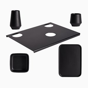 PerInciso Black Table Set by Orma, 2007