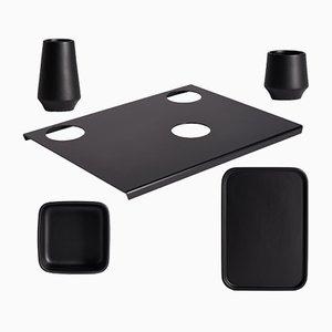 PerInciso schwarzes Tisch Set von Orma, 2007