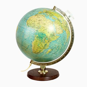 Vintage World Globe with Magnifying Glass from Scan Globe