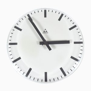 Frameless Wall Clock from Pragotron, 1980s