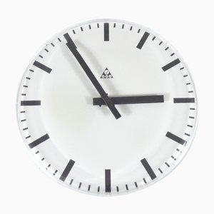 Reloj de pared sin marco de Pragotron, años 80