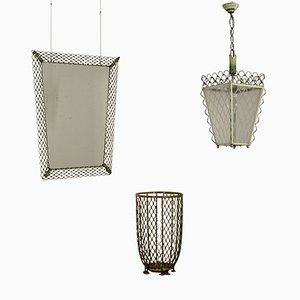 Wrought Iron Mirror, Lantern, & Umbrella Stand, 1940s