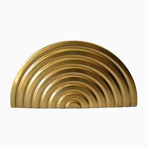 Scultura in porcellana dorata di Otto Piene per Rosenthal, 1975