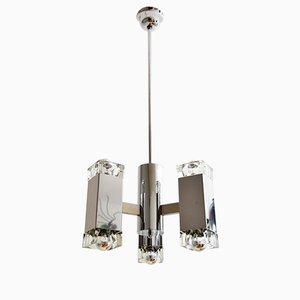 Lámpara colgante italiana de Gaetano Sciolari para Mazzega, años 60