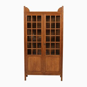 Oak Dutch Art Nouveau Cabinet by Jac van den Bosch, 1900s