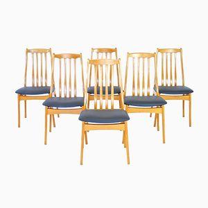 Danish Elm Dining Chairs, 1970s, Set of 6