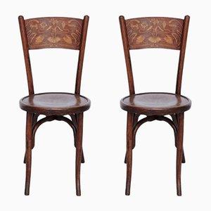 Antike Bugholz Stühle von Codina, 1900er, 2er Set