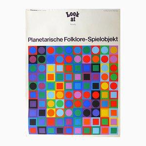 Ausstellungsplakat von Victor Vasarely für Galerie Thomas München, 1969