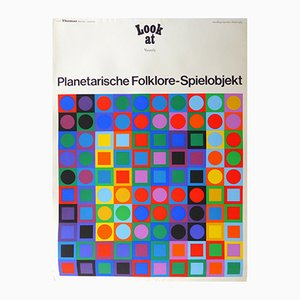 Exhibition Poster by Victor Vasarely for Galerie Thomas München, 1969
