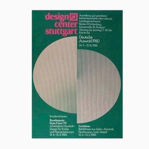 Poster di mostra del Design Centre di Stoccarda di Lothar Retzlaff per Eichner & Rombold, 1980