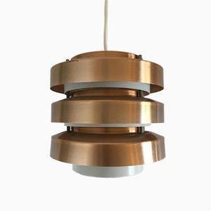 Petite Lampe à Suspension Scandinave en Cuivre, 1960s