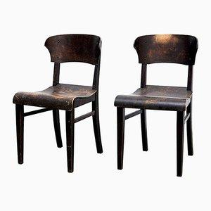 Chaises d'Appoint Vintage, 1920s, Set de 2