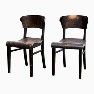 Vintage Side Chairs, 1920s, Set of 2