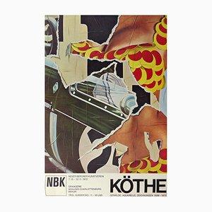 Poster di mostra di Fritz Köthe di Neuer Berliner Kunstverein, 1972