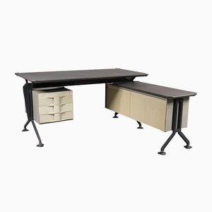 Mid-Century L-Shaped Desk by BBPR for BBPR
