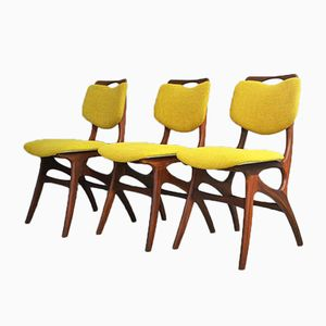 Teak Dining Chairs, 1950s, Set of 3