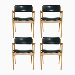Oak Armchairs by Erik Buch for O.D. Møbler, Set of 4