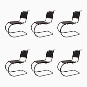 Chaises MR10 par Ludwig Mies van de Rohe pour Thonet, 1960s, Set de 6