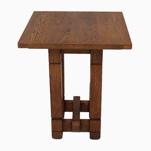Tavolino da caffè Art Deco in quercia di A.R. Wittop Koning per J.H. Huizinga, anni '30