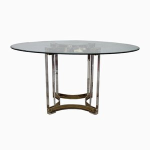 Lucite and Brass Table by Romeo Rega, 1960s
