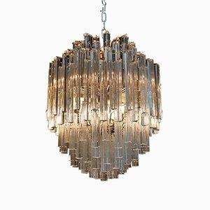 Lámpara de araña vintage de vidrio de Venini