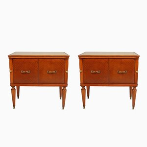 Mid-Century Walnut Nightstands, Set of 2