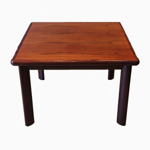 Square Mid-Century Rosewood & Teak Coffee Table from Dyrlund