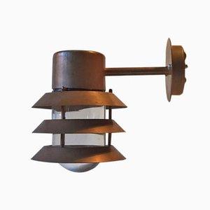 Lámpara de pared para exteriores de cobre de Design Light, años 80