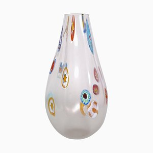 Italian Venetian Blown Murano Glass Vase with Murrine by Gino Cenedese, 1950s