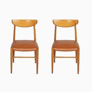 Italienische Beistellstühle, 1950er, 2er Set
